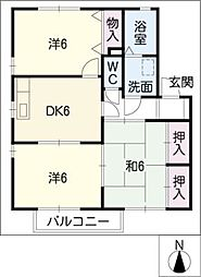 センチュリーM A棟[1階]の間取り