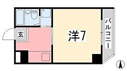 C' house 3階1Kの間取り