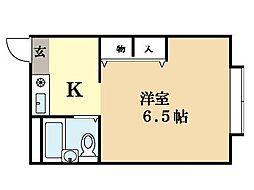 パインモールBe1[2階]の間取り
