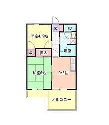 神奈川県横浜市金沢区柴町の賃貸マンションの間取り