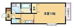 Osaka Metro谷町線 野江内代駅 徒歩7分の賃貸マンション 4階1Kの間取り