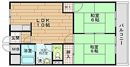 ロイヤルハイツ河田[11階]の間取り