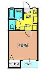 K.Kハイツ[2-D号室]の間取り
