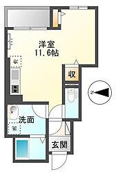 神奈川県厚木市愛甲東3の賃貸アパートの間取り