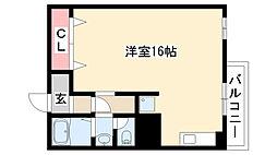 愛知県名古屋市昭和区白金2丁目の賃貸マンションの間取り