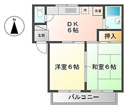フラッツ善福寺 3c[1階]の間取り