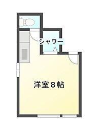 広島県呉市中通3丁目の賃貸アパートの間取り