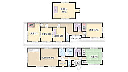 [一戸建] 愛知県名古屋市昭和区駒方町1丁目 の賃貸【/】の間取り