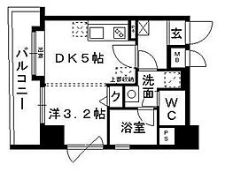 アクタス薬院II[5階]の間取り