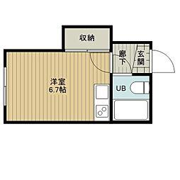 アネスティ野幌駅前[2階]の間取り