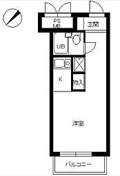 スカイコート世田谷用賀[6階]の間取り