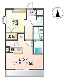 香川県観音寺市三本松町2丁目の賃貸アパートの間取り