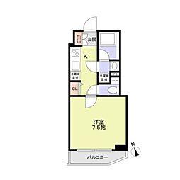 東京メトロ丸ノ内線 方南町駅 徒歩4分の賃貸マンション 3階1Kの間取り