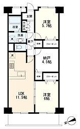 マンション(蒲田駅から徒歩9分、2SLDK、4,080万円)