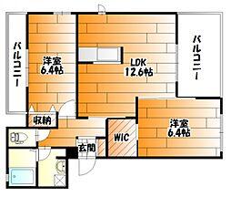 広島県広島市安佐南区山本7丁目の賃貸アパートの間取り