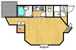 シェポールK&M[4階]の間取り