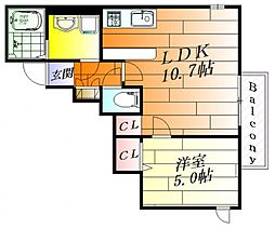 URBAN LUXURY[1階]の間取り