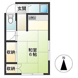 東京都調布市布田3丁目の賃貸アパートの間取り