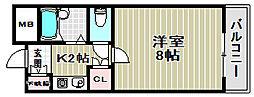 エスポワール新金岡[3階]の間取り