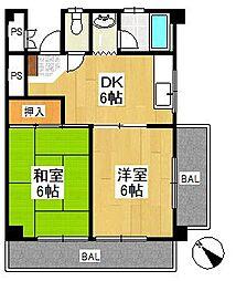 サンハイツ橋本第1[2階]の間取り