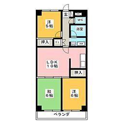 芝塚マンション[4階]の間取り