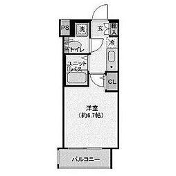 リヴシティ横浜東ベイサイド[805号室]の間取り