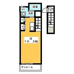 アビタシオン柳戸東[2階]の間取り