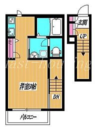 東京都小金井市梶野町5丁目の賃貸アパートの間取り