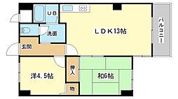 ロイヤルコーポ姫路栗山町[802号室]の間取り
