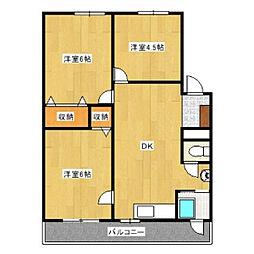 フローラ名東[301号室]の間取り