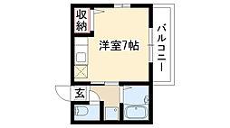 愛知県名古屋市昭和区花見通2丁目の賃貸アパートの間取り