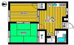 リバーサイド平井[305号室]の間取り
