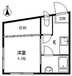 北澤ビル[3階]の間取り