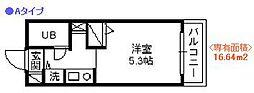 ジョイフル日野第2[202号室]の間取り