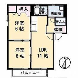 Graceful KAWAUCHI I[1階]の間取り