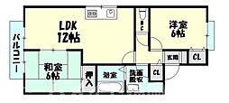 福岡県糟屋郡志免町別府4丁目の賃貸アパートの間取り