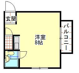 フォレストコート和歌浦東[3階]の間取り
