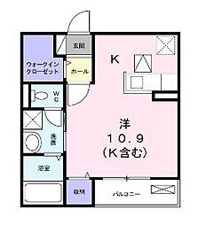 モデルノI[1階]の間取り