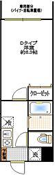 コンフォート東浦和[105号室]の間取り