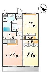 ル・パッサージュ[2階]の間取り