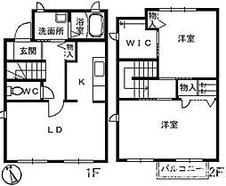 エクセレントホーム D棟[1階]の間取り
