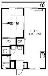 サンシティ塚越[1階]の間取り