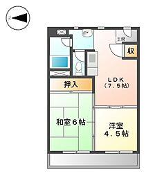 上飯田第2 3号棟[7階]の間取り
