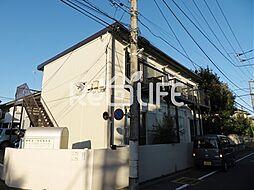 東京都国立市西の賃貸アパートの外観