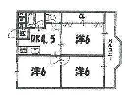 キャピタルビルド南武庫之荘[201号室]の間取り