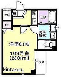 ブライトヒルズ新宿[1階]の間取り