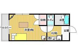 レオパレス松井[2階]の間取り