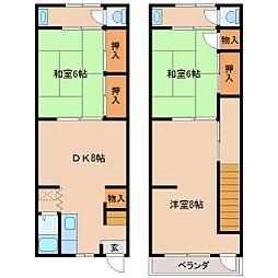[テラスハウス] 兵庫県尼崎市栗山町2丁目 の賃貸【/】の間取り