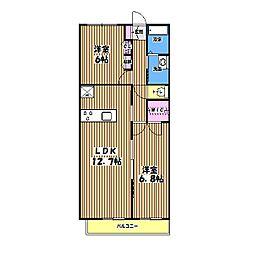ニューノース壱番館[1階]の間取り