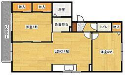 ハイカムール山田[3階]の間取り
